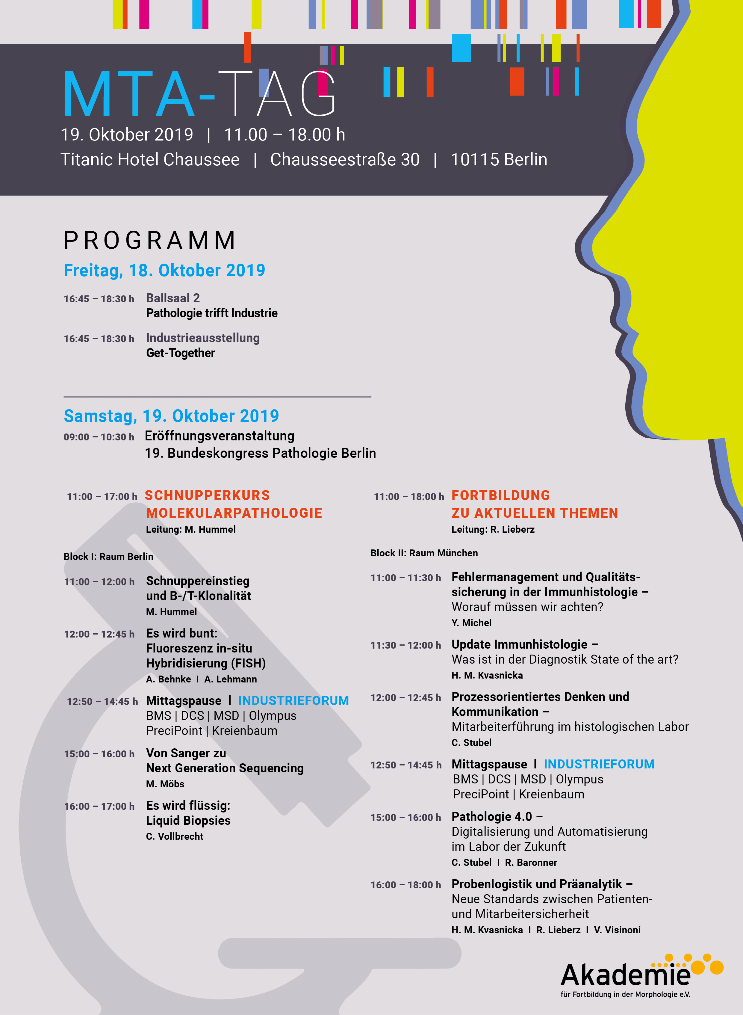 Programm 19. Bundeskongress Pathologie berlin